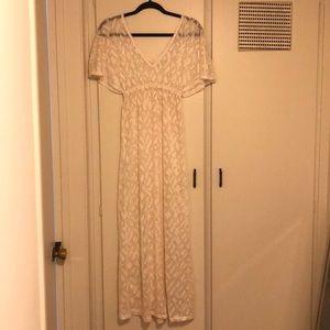 White Crochet coverup